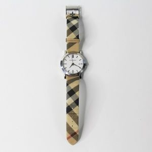Burberry Heritage Nova Check Coated-Canvas Watch
